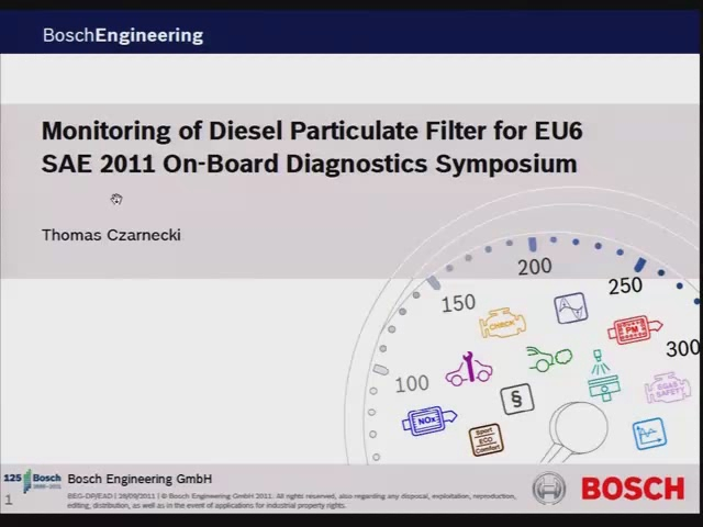 Monitoring of Diesel Particulate Filter Using Soot Sensor for EU6 OBD