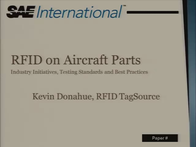 RFID on Aircraft Parts - Industry Initiatives, Testing Standards, and Best Practices for Storing Maintenance History Information Directly on Aircraft Parts