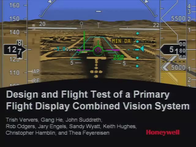 Design and Flight Test of a Primary Flight Display Combined Vision System