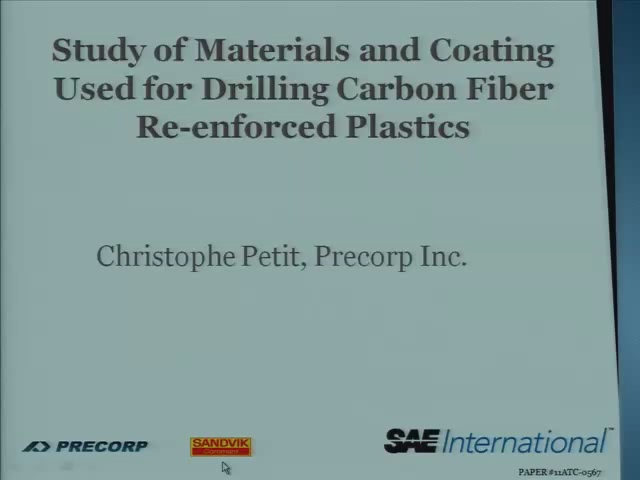 Study of Materials and Coatings Used for Drilling Carbon Fiber Re-inforced Plastics