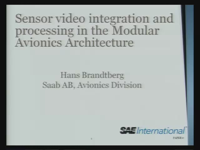 Sensor Video Integration and Processing in the Modular Avionics Architecture