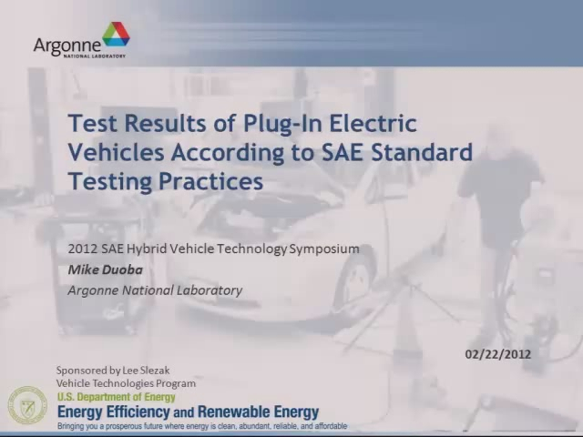 Test Results of Plug-In Vehicles According to SAE Standard Testing Practices