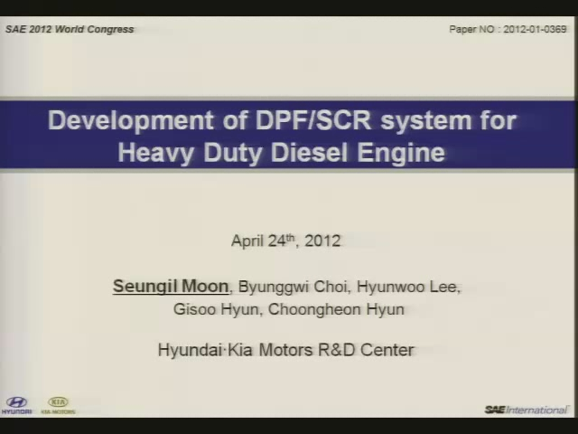 Development of DPF/SCR System for Heavy Duty Diesel Engine