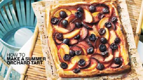 How to make a pretty summer orchard tart