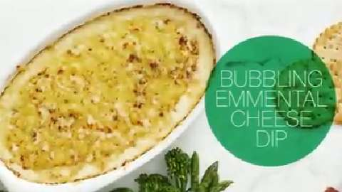 Delicious dip: Bubbling Emmental Cheese Dip