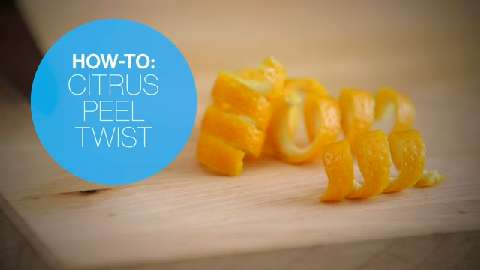 How to make a citrus peel twist