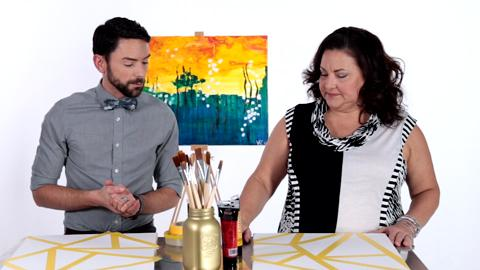 Gail Vaz-Oxlade joins Brett Walther in creating custom wall art