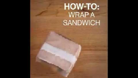 how to make a wrap sandwich video