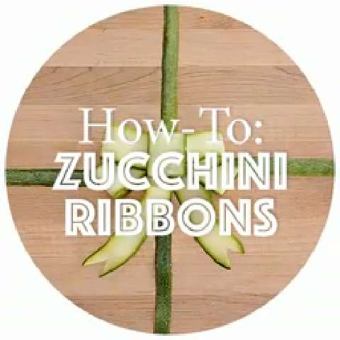 How to make zucchini ribbons
