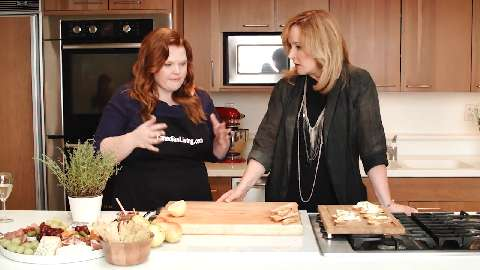 Making Pear Cambozola Crostini with Marilyn Denis