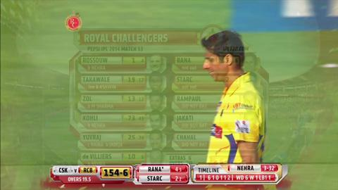 Report: Match 53 – RCB v CSK