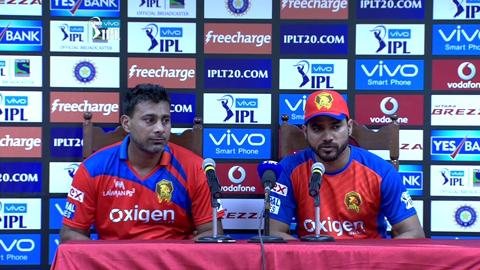 M54: GL vs MI – Press Conference – Praveen Kumar & Shadab Jakati
