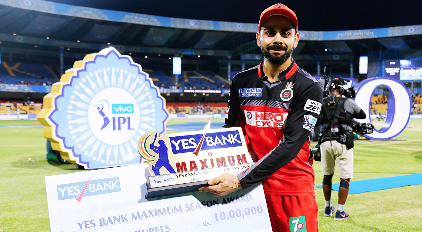 IPL 2016: Yes Bank Maximum Season Award -  Virat Kohli