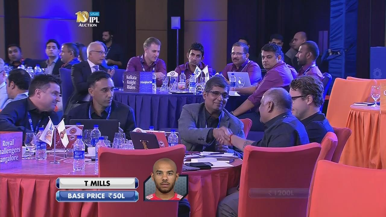 Tymal Mills sold to RCB