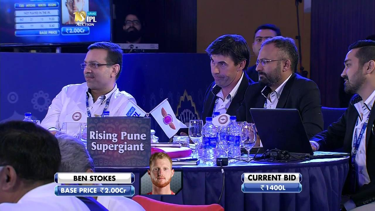 2017 VIVO IPL Player Auction - Rising Pune Supergiant