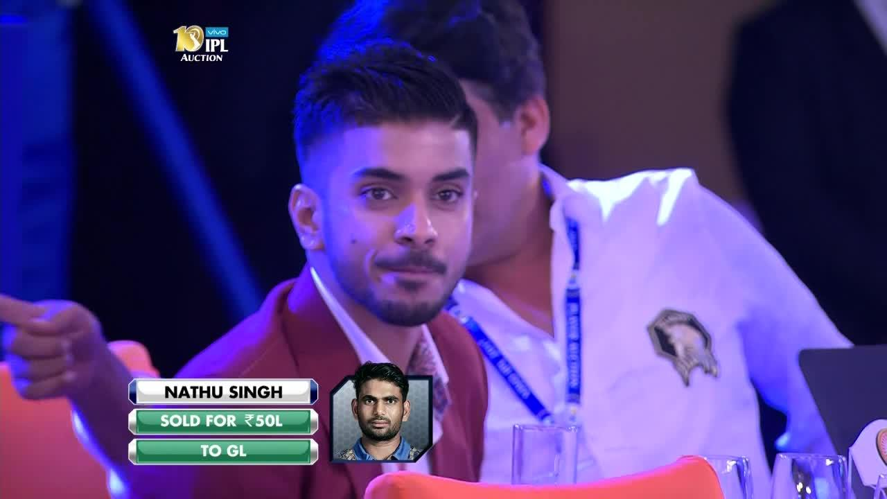 2017 VIVO IPL Player Auction - Gujarat Lions