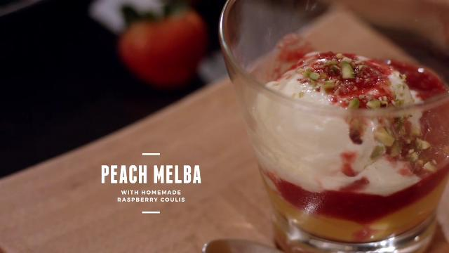 Ep 1: (Recipe Video) Peach Melba with Homemade Raspberry Coulis | Cooking For Love | Asian Food Channel