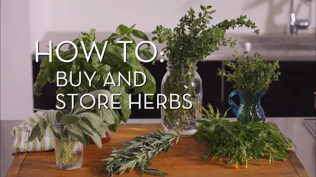 Buy and Store Herbs | Cooking How To