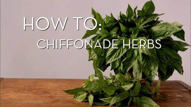 Chiffonade Cut Herbs | Cooking How To