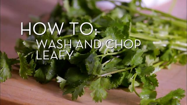 Wash & Chopp Leafy Herbs | Cooking How To