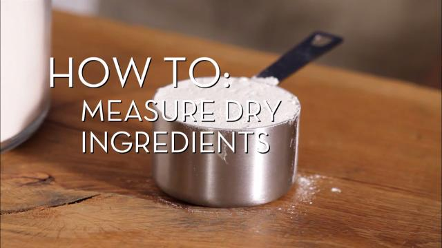 Measure Dry Ingredients | Cooking How To