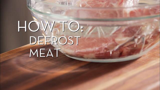 Defrost Meat | Cooking How To