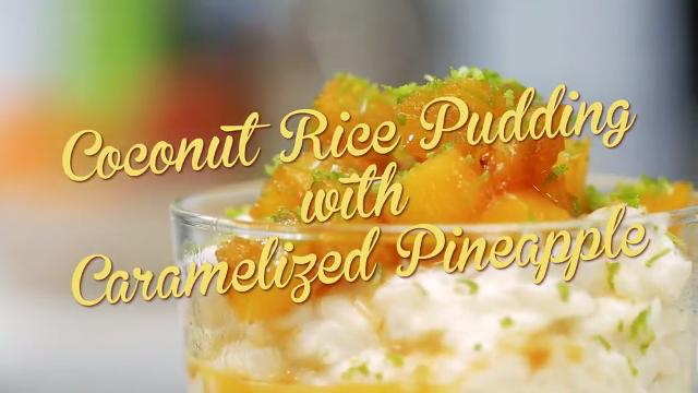 Coconut Rice Pudding with Caramelized Pineapple | Debbie's Desserts