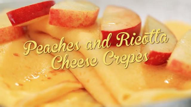 Peaches and Ricotta Cheese Crepes | Debbie's Desserts