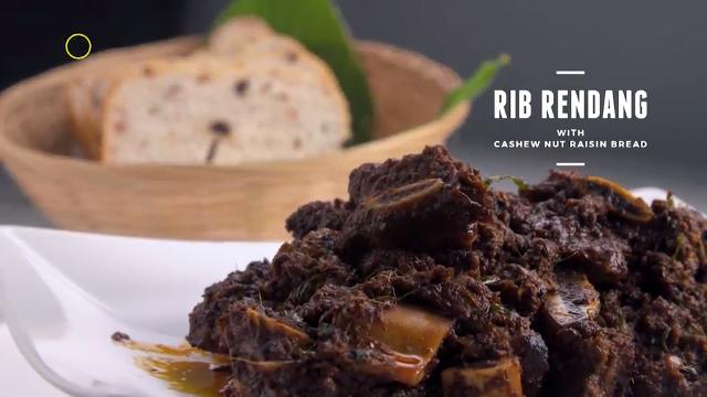 Rib Rendang with Cashew Nut White Bread | Cooking For Love (S2)