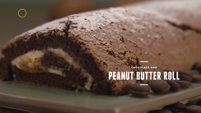 Chocolate and Peanut Butter Roll Cake | Cooking For Love (S2)