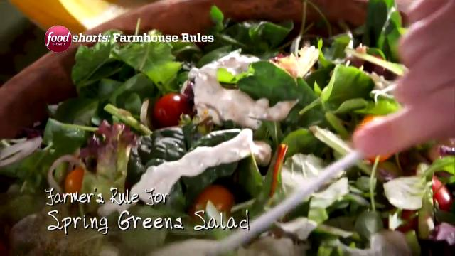 Spring Greens Salad | Farmhouse Rules