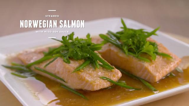 Steamed Norwegian Salmon with Miso Soy Sauce | Cooking For Love (S2)