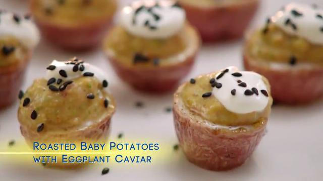 Roasted Baby Potatoes with Eggplant Caviar | Valerie's Home Cooking