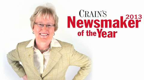 Henry Ford's Nancy Schlichting honored as Crain's 2012 Newsmaker of the Year
