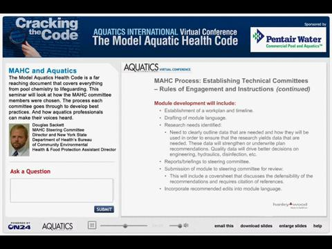 Aquatics International Virtual Conference: Cracking the Code