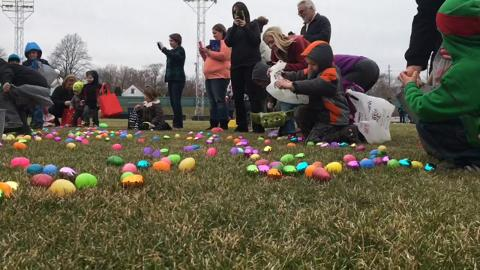 VIDEO: Easter egg hunt at McBride