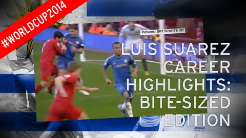 Luis Suarez career highlights - Bite-sized edition
