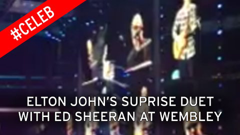 Watch Elton John's surprise duet with Ed Sheeran at Wembley gig