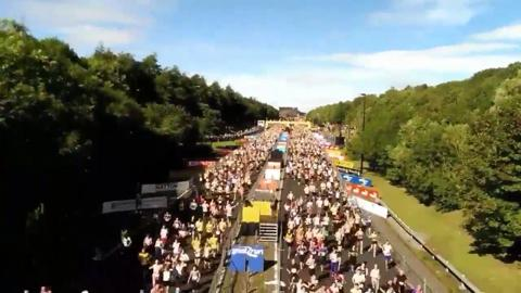Watch the Great North Run 2015 start to finish in 60 seconds