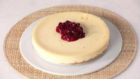 See us make healthy cranberry-lime cheesecake!