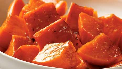 Make healthy maple-roasted sweet potatoes