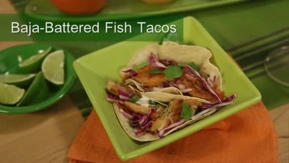 See how to make crispy fish tacos