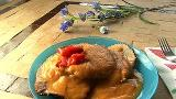 Beef Topside with Vegetable Puree in the Pressure Cooker
