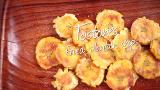 Tostones (Fried plantain chips)