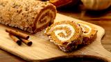Pumpkin Cream Cheese Swiss Roll