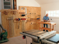 Take a tour of the Fine Homebuilding Project House workshop for a whole host of tool storage solutions for your own home shop.