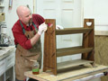 Learn how to apply the classic Arts and Crafts ammonia-fumed finish as the Book Rack project wraps up.