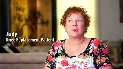 Judy, knee replacement patient at Sentara OrthoJoint Center at Sentara Leigh Hospital