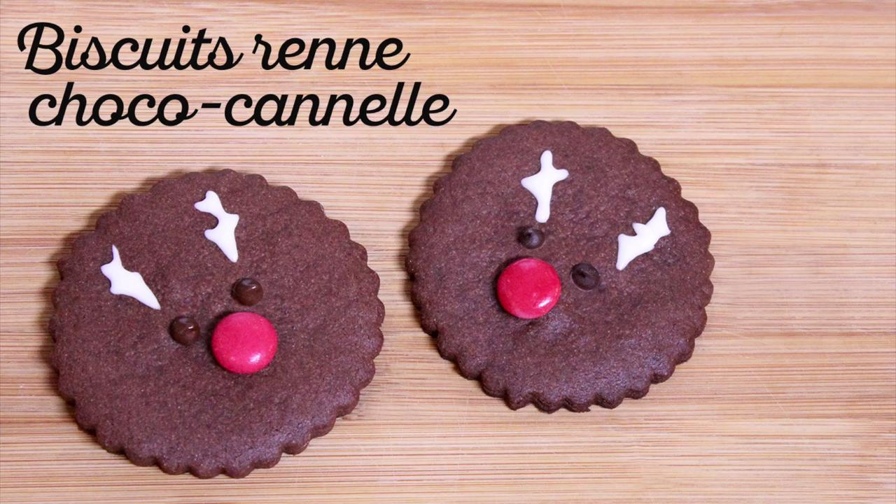 Biscuits Renne choco-canelle
