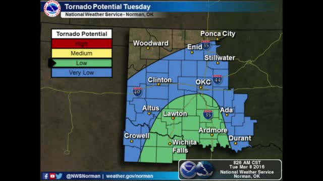 Oklahoma Weather Forecast: March 8, 2016